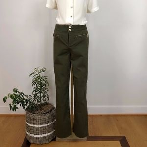 Ralph Lauren Green Label Pants with Gold Accents